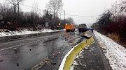 Místo tragické nehody ve Vodní ulici v Havířově.
