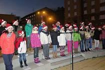 Slavnostní rozsvícení vánočního stromu na náměstí TGM v Havířově-Šumbarku.