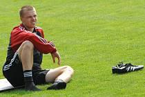 Baníkovec Pavel Besta, aktuálně hráč Žižkova.