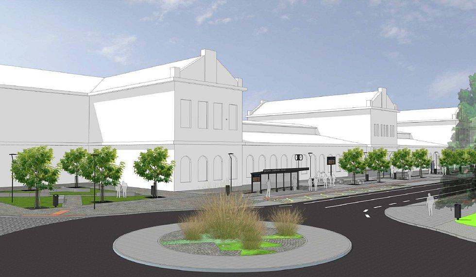 V Bohumíně schválili rozpočet, který počítá s více než čtvrtmiliardou na investice. Na snímku Vizualizace nového dopravního terminálu u vlakového nádraží.