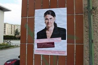 Plakáty s kandidátkou do Senátu ČR Markétou Kabourkovou hyzdí různá místa v Havířově.