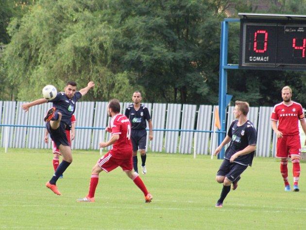 Lukáš Kurušta (vlevo) se o víkendu dvakrát gólově prosadil.