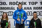 Nejlepší ženy. Zleva druhá Eliška Pudivítrová, vítězná Michaela Skleničková a třetí Laura Lozová.