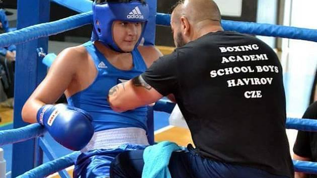 David Polák se svým trenérem.
