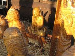 Snímek z doby, kdy byl v betlémě Ježíšek i jesličky.