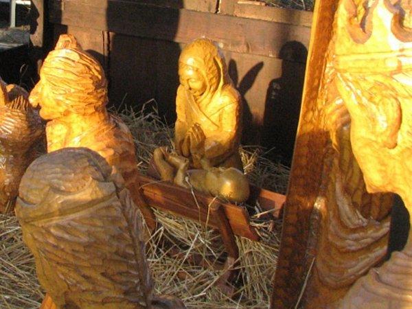 Snímek zdoby, kdy byl vbetlémě Ježíšek ijesličky.