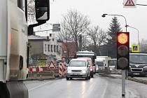 Omezení provozu v Karviné-Loukách.