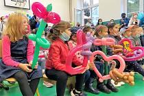 Také v Benešově základní škole v Bohumíně vítali prvňáčky.