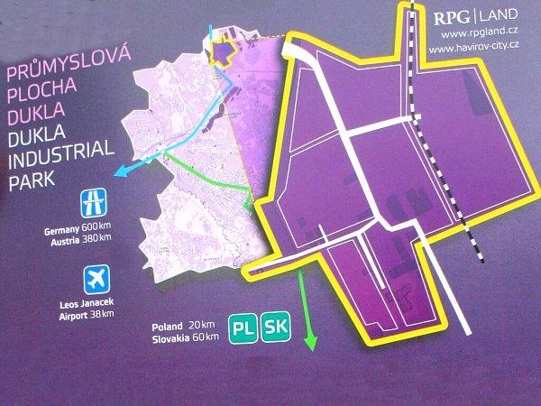Areál bývalé havířovské černouhelné šachty Dukla se změní vprůmyslový park.