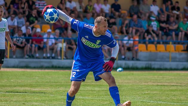 Libor Hrdlička sbírá v Karviné ligové starty a sem tam i vychytanou nulu.