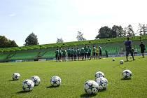 Karvinský fotbalový stadion.