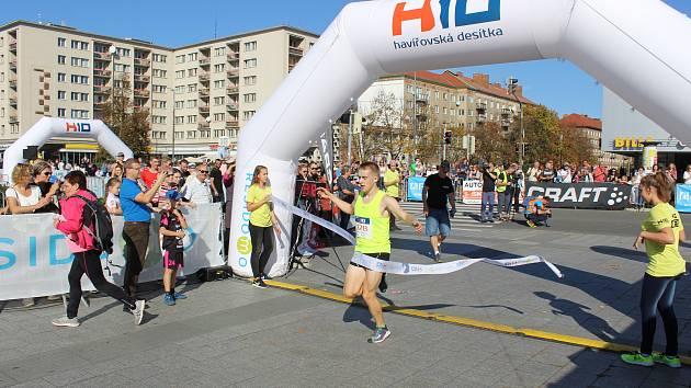 Havířovská desítka 2019. Vítěz běhu na 10 km Adam Szymanik.
