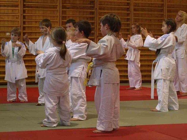 Stonavské děti se pilně učí základům juda.