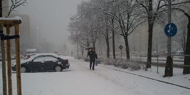 Sněhová nadílka vOrlové.