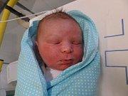 Filip Jakubczyk z Karviné se narodil 2. ledna v Třinci. Měřil 54 cm a vážil 3820 g.