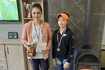 Úspěšné mladé tenistky. Vlevo domácí vítězka Hana Macurová, vpravo finalistka Vanesa Zichlarzová.