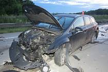 Nehoda polského řidiče na dálnici u Českého Těšína.