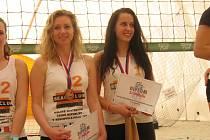 Marie Makovcová (vlevo) a Natálie Žůrková dosáhly na bronz.