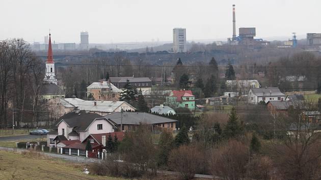 Doubrava. Pohled na obec z Doubravského kopce.