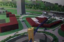 Expozice studentských návrhů na podobu havířovského vlakového nádraží.