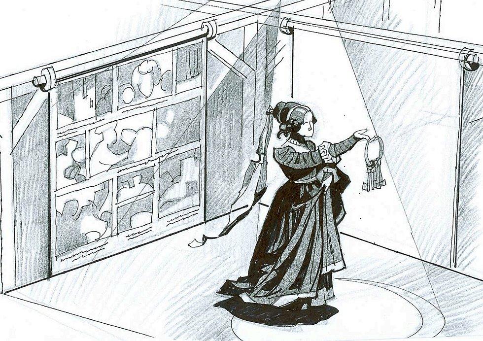 Černá kněžna je jednou z legend území Těšínského Slezska. Návštěvníkům povypráví svůj příběh ve vrchním podlaží. Autorem návrhu je Ivo Plass.