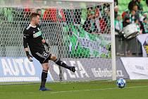 Brankář Karviné Martin Berkovec inkasoval tři góly už do poločasu.