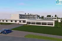 Vizualizace budoucí možné podoby objektu domova Ambrosie, který by mohl vzniknout v prostorách bývalé ZŠ v Polní ulici.