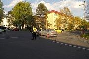 Nehoda v křižovatce Národní třídy s Lipovou ulicí v Havířově.