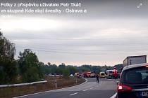 Vážná nehoda na Ostravské ulici v Orlové.