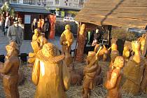 Vánoční městečko s betlémem v Havířově.