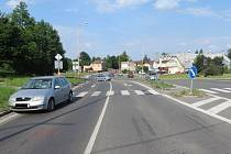 Místo nehody v Horní Suché.
