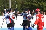 Hokejbalisté Karviné dali Hradci pět gólů, ale stačilo to jen na bod.