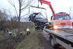 Smrtelná nehoda v Dolní Suché.