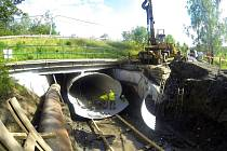 Oprava mostu pod ulicí Na Hliníkách v Havířově.