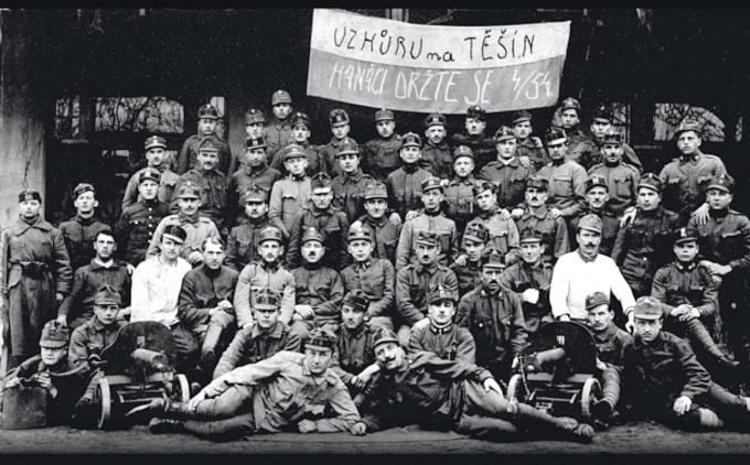 Hanácký vojenský oddíl, který bojoval na čsl. straně na Těšínsku.
