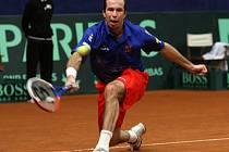 Radek Štěpánek se necítil úplně fit, přesto utkání s Malissem zvládl.
