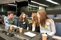 Skupina 24 karvinských gymnazistů navštívila Evropský parlament v rámci soutěžního programu Euroscola.