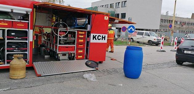 Zásah hasičů uvlakového nádraží vHavířově