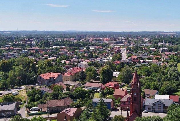 Bohumín-Skřečoň, letecký snímek.