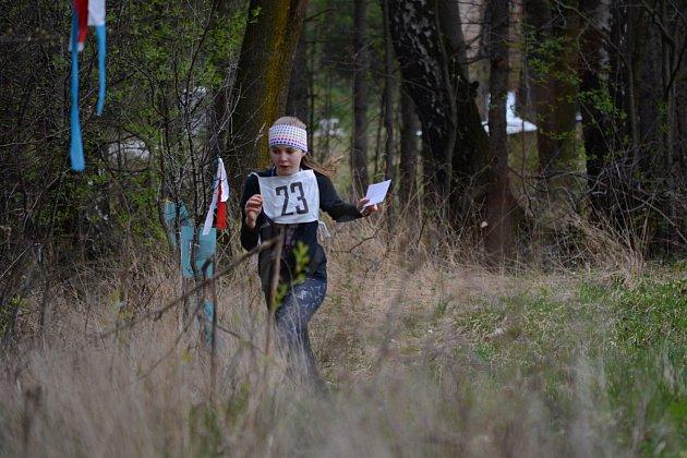 Zuzana Balajková na trase závodu.