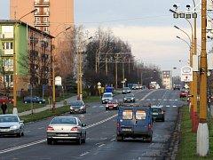 Úsekové měření rychlosti na Dělnické ulici v Havířově.