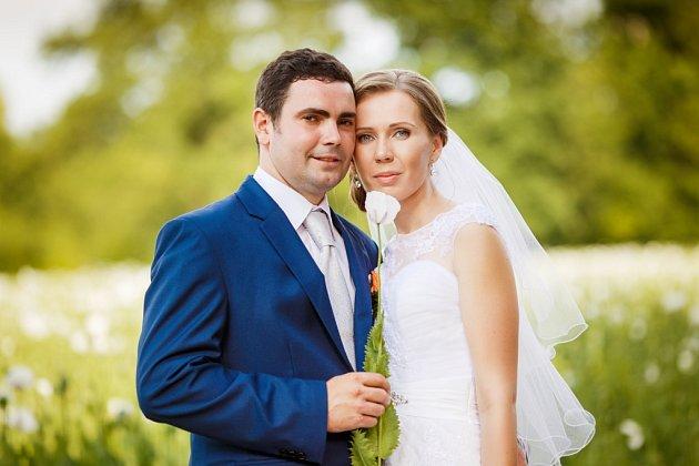 Lenka a Petr Zahrajovi, Albrechtice, datum svatby: 25.6.2016.