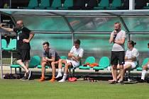 Fotbalisté Karviné B (na snímku z minulé sezony) rozstříleli ve 3. kole divize F v neděli doma Dětmarovice 10:2.