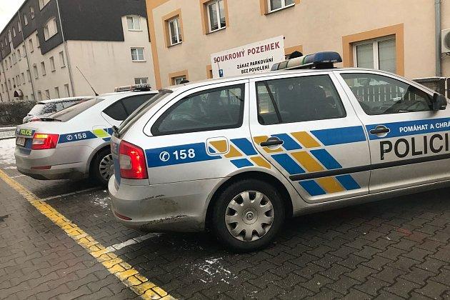 Policisté vOpletalově ulici.