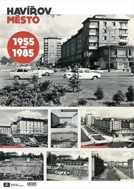 Panely zvýstavy věnované 65letům vzniku Havířova.