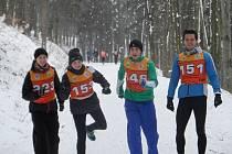 Rozklus před závodem, zleva E. Kučerová, Z. Cyžová, V. Polášek a R. Chmelík.