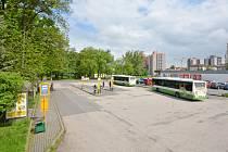 Stavební úpravy v okolí autobusového stanoviště v Bohumíně.