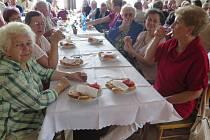 Výroční členská schůze Klubu důchodců Dolu Dukla.