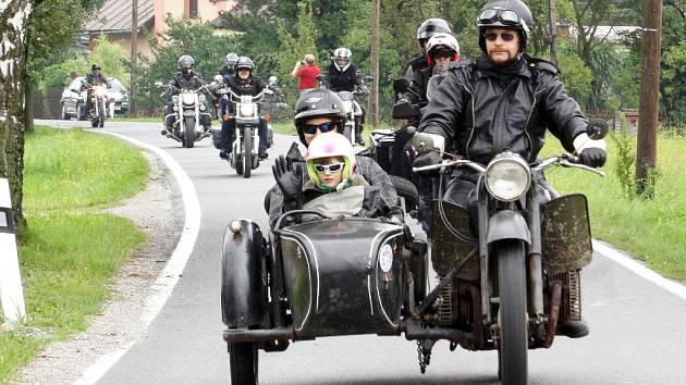 Motorkáři projeli česko-polským pohraničím.