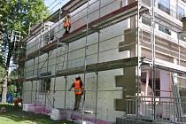 Zateplení budovy MŠ Přímá v Havířově-Podlesí.